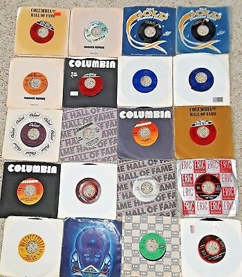 """80 Mixed Lot of 45 rpm Records Vinyl 7"""" 1960s, 70s, 80s Very Good to Excellent"""