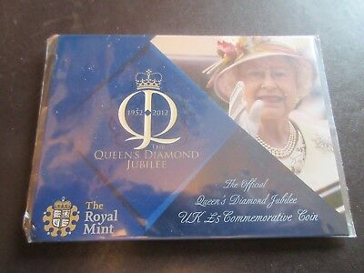 Royal Mint, 2012 Official  Diamond Jubilee £5 Commemorative Coin - Sealed Pack