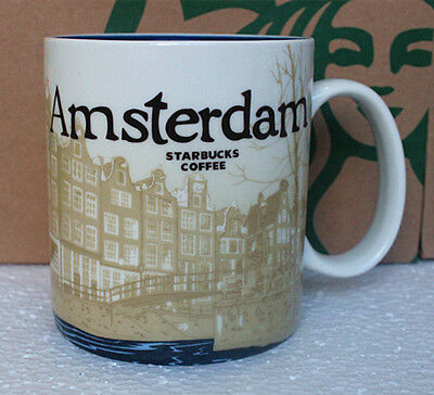 Starbucks Mug Amsterdam City Cup Collector Series Mug 16 oz