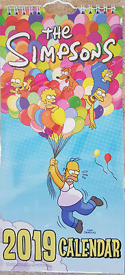 The Simpsons 2019 Slim Wall Calendar (Brand New & Sealed)