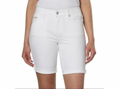 Brand New Women's Calvin Klein Jeans Bermuda City Shorts White Light 421O321