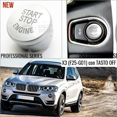 TASTO ACCENSIONE silver BMW X3 F25 G01 pulsante START m sport accessori interni