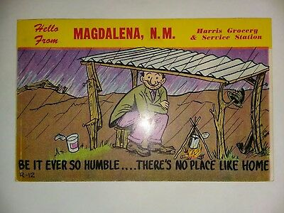 Hello From Magdalena N.M. Harris Grocery & Service Station Postcard