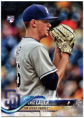 Eric Lauer - Padres #US82 Baseball 2018 Topps Update Series RC Trade Card C2347