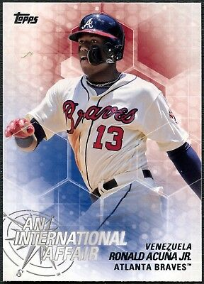 Acuna Jr#IA-47 Baseball 2018 Topps Update Series International Affair Card C2358