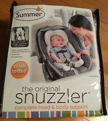 Summer Infant Original Snuzzler Complete Head & Body Support Ivory Reversible
