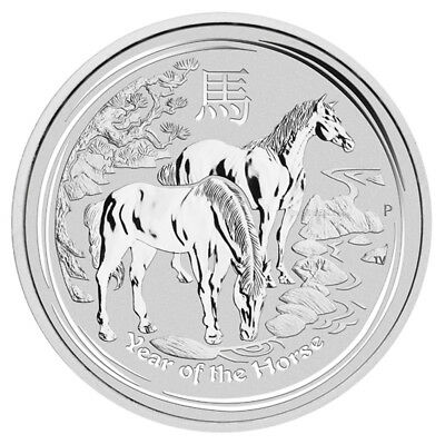 Lunar II 2014 year of the horse, 1/2 oz silver coin BU, mint from roll