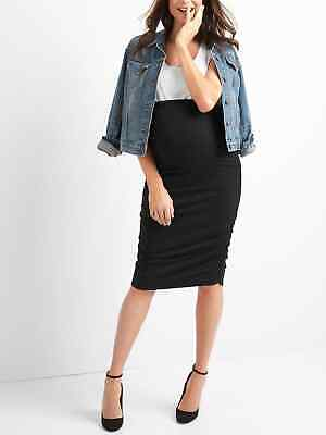 Gap NWT NEW Maternity Full Panel Ruched Pencil Skirt Small Medium Large $49