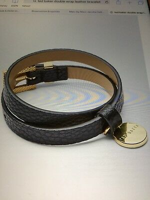 5a6fa58c7369a Ladies Ted Baker Double Wrap Leather Bracelet - BNWT