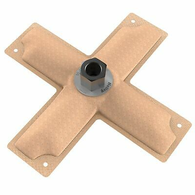 Holley Hydramat Fuel Tank Pickup - 8 x 8 x 2 Inch - Cross 3/8 Inch Centre Outlet