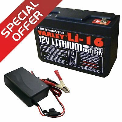 Varley Motorsport / Competition Lithium Li-16 Battery With 6 Amp Charger