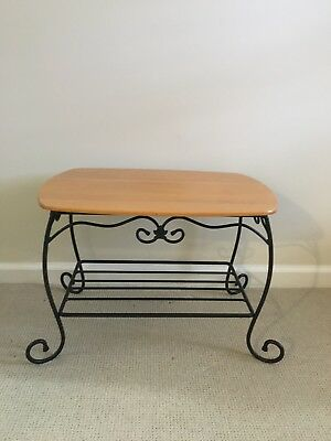 Longaberger Wrought Iron Treasure Stand With Woodscraft Lid