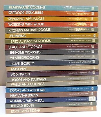 "20 Vintage Time Life ""Home Repair & Improvement"" Hard Cover Books 1976-1981"