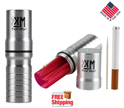 Aluminum Dugout One Hitter Pipe Stash Tube Airtight Waterproof Case by Kayd Mayd