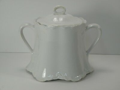 Knowles Taylor Knowles KT & K China White Porcelain Covered Sugar / Lidded Jar