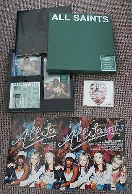 "All Saints 12"" RARE CD Album Box Set & 12"" POSTER & Honest CD Soundtrack Sampler"