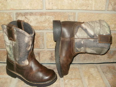 b786b9e0f05 ARIAT YOUTH HERITAGE Sierra Leather Western Boots Boy 11.5 M/Brown-Camo  MSRP $90