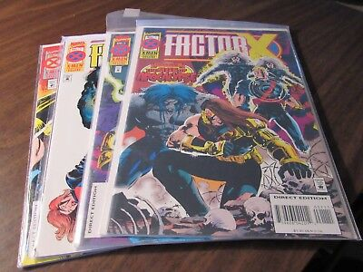 Factor-X #1 2 3 4 Age of Apocalypse X-Men Mini Series Comic Book Set 1-4
