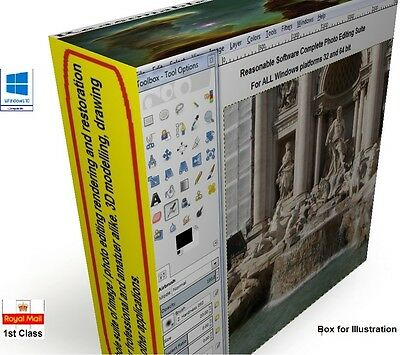 Photo photography image editing Suite PRO -  CS6 for  windows xp 7 8 8.1 10 1 T