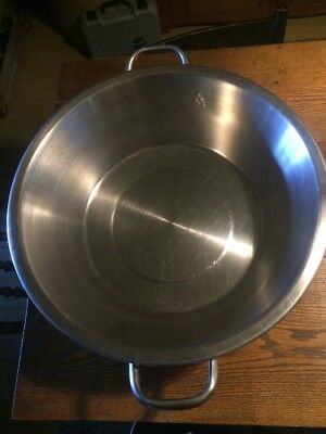 Vollrath Stainless Steel  Food Prep Pan Handles, Made In USA Wis 24 qt