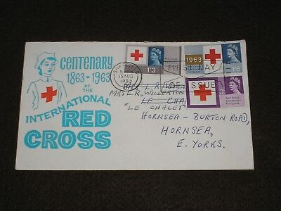 1963 GB Stamps RED CROSS Illustrated First Day Cover SHEFFIELD FDI Cancel FDC