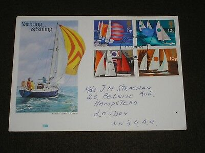 1975 GB Stamps SAILING Philart First Day Cover LONDON W1 FDI Cancel FDC