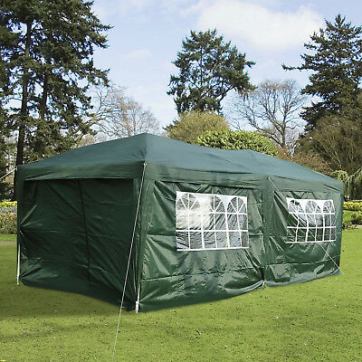 10 x 20ft Pop Up Canopy Tent Patio Gazebo Wedding Party Outdoor Shelter Green