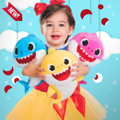 Baby Shark yellow WOWWEE Pinkfong official  Singing Plush Doll - lightning cube