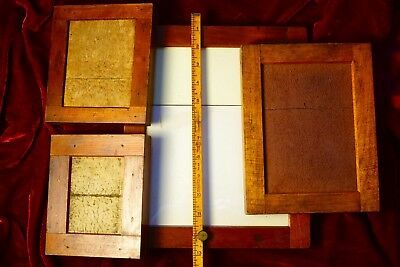 4 Antique Wooden Contact Printing Frames - Rare 8X10 To 4 X 5
