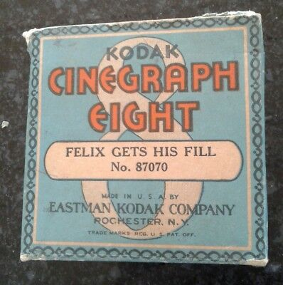 Vintage FELIX THE CAT CARTOON MOVIE 8mm FILM box Kodak Cinegraph Early Animation