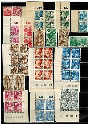 Lot of Germany Under French Occupation Stamps MNH