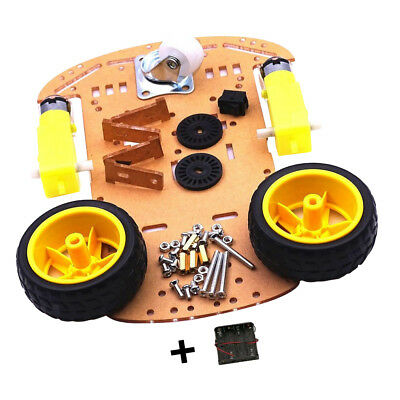 2WD Smart Robot Car Chassis Kit with Speed Encoder Battery Box for Arduino