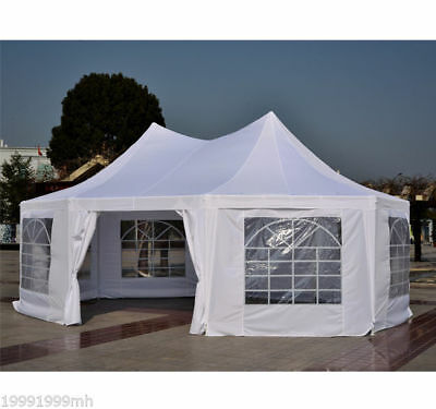 22' x 16' Octagon Party Gazebo Wedding Event  Canopy Tent 8 Removable Walls
