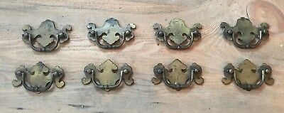 "Repurposed Salvaged 2 1/2"" Brass Drawer Pulls Vintage Furniture Hardware set (8)"