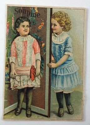 Soapine Kendall Mfg Co Providence RI Sunday Best Dressed Girls Tradecard