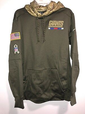 898790c22 Nike Nfl 2017 Salute To Service Hoodie Military New York Giants Green  853426-325