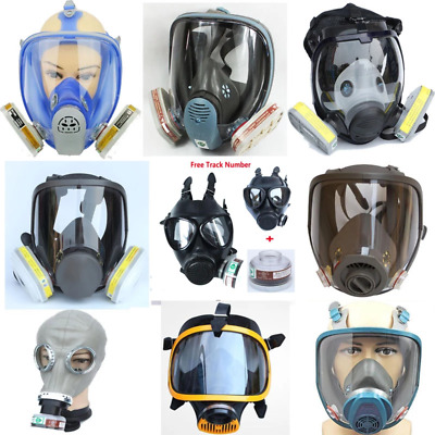 Lot Of Chemcial Painting Spraying Silicone Gas Mask Same For 3M 6800 Dust Gas Ma