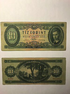 Banknotes, Hungary, Two, 1947, 10 Forint, Circulated