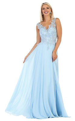 4503f666c0 Special Occasion Chiffon Gowns Formal Long Evening Mesh Prom Dresses   Plus  Size