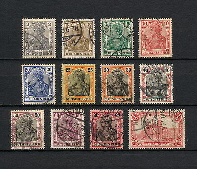 (YYAA 211) GERMANY 1905 USED Mich 83I - 94AI Sc 80 - 91 Deutsches Reich