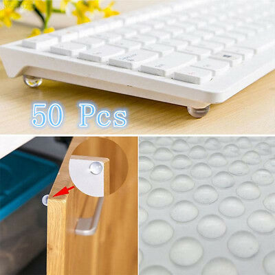 7EFC 50Pcs Self Adhesive Clear Bumpers Door Buffer Crash Pad For Cupboard