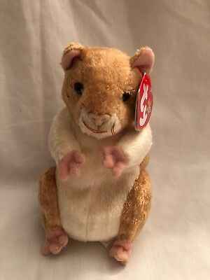 Pellet the Hamster Ty Beanie Babies Baby New Plush Soft Toy With Tags