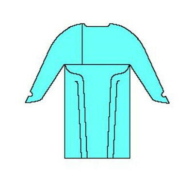 (100/cs) Halyard 69603 Impervious Comfort Gown XXL Blue thumbhooks surgical med