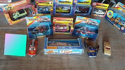 Lot Of 17 Vintage - Speed Kings, Super Kings - Lesney, Matchbox, Die Cast, Boxed