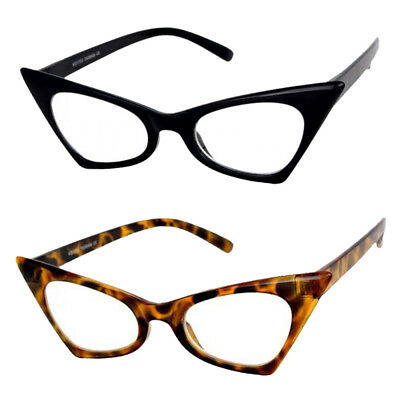 Pointy Classic Retro Vintage Cat Eye Style Clear Lens Sun Glasses Fashion Frame