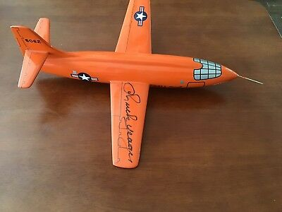 X-1 Rocket Plane Model Signed by Chuck Yeager