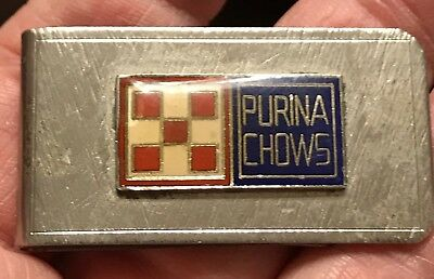 Vintage Purina Chows Advertising Money Clip