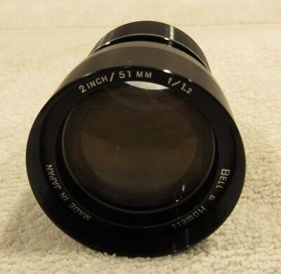 BELL & HOWELL  51mm F 1.2  16mm Projector Lens  500 to 2592 Filmosound models VG