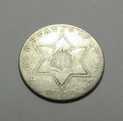 1856 Silver Three-Cent Silver Piece ~ Very Nice ~ Combined Shipping Lot  R85