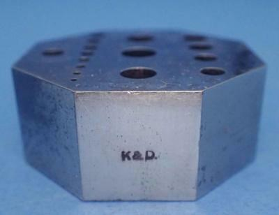 Vintage K&d 8-Sided Staking Block For Watch And Jewelry Repair Tools